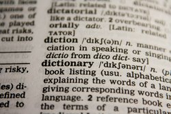 English dictionary's definition of 'dictionary'