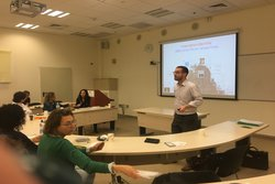 Academic delivers a workshop to fellow researchers