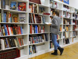 Academic looks for a research journal in public library