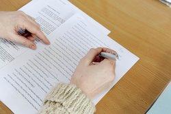 Researcher edits academic document