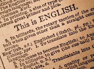 Definition of 'English' in dictionary